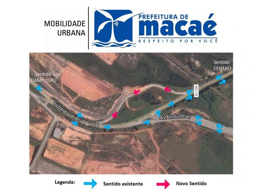 Rodovia Amaral Peixoto tem novo traçado próxima à Avenida Industrial, em Macaé