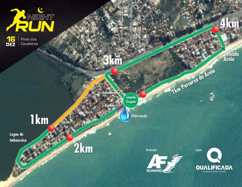 Macaé vai receber a Night Run Workout no próximo sábado na Praia do Pecado