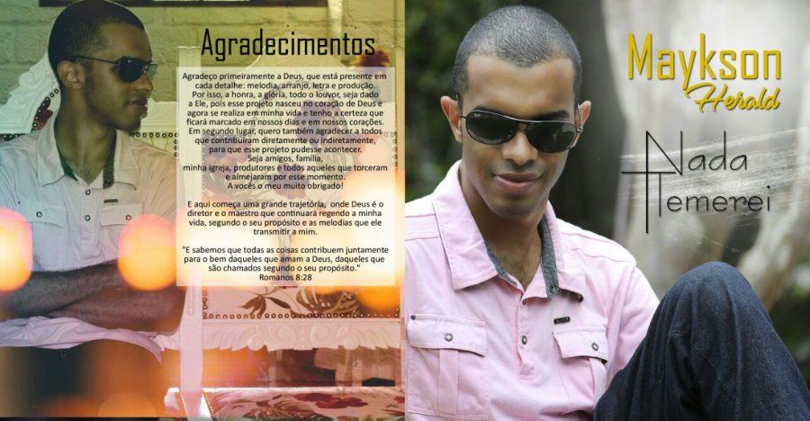 "Cantor macaense lança cd gospel ""Nada Temerei"""