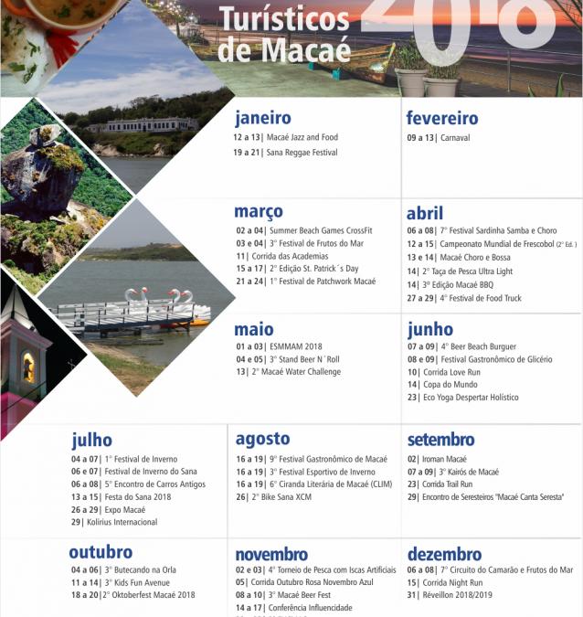 Lançado Calendário de Eventos Turísticos 2018 em Macaé