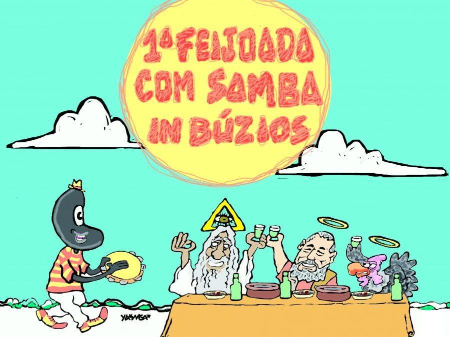 Búzios homenageia fundador do jornal satírico O Perú Molhado com samba e feijoada